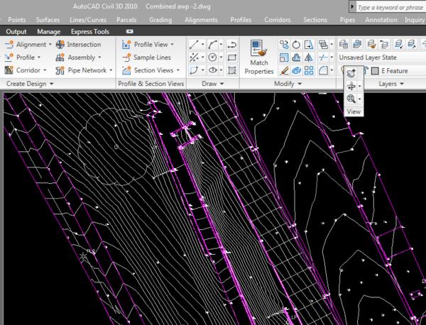 Contour Line Drawing In Autocad : Contour software help contours w r t to break lines
