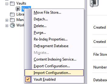 ImportConfigurationVault